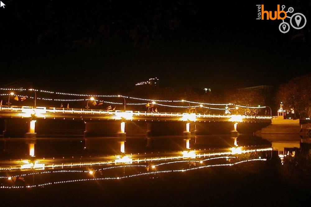 The Mae Ping River at night