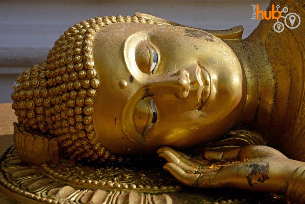 A reclining Buddha at Doi Suthep Temple
