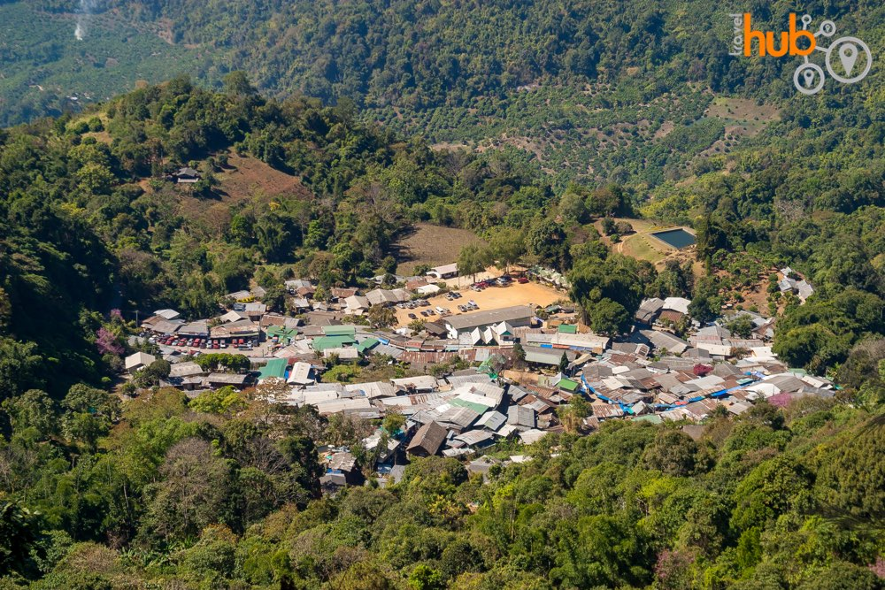 The Hmong village on Doi Pui as seen from above