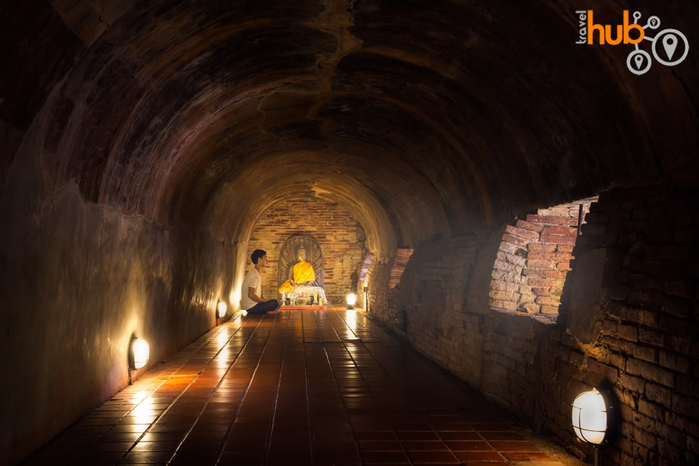 Wat Umong (The Tunnel temple) names such because of the tunnel underneath