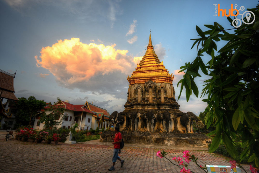 twilight time at Wat Umong