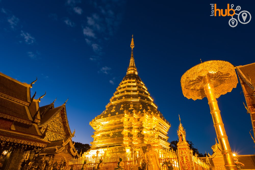 Enjoy the temple at night without the tourist crowds