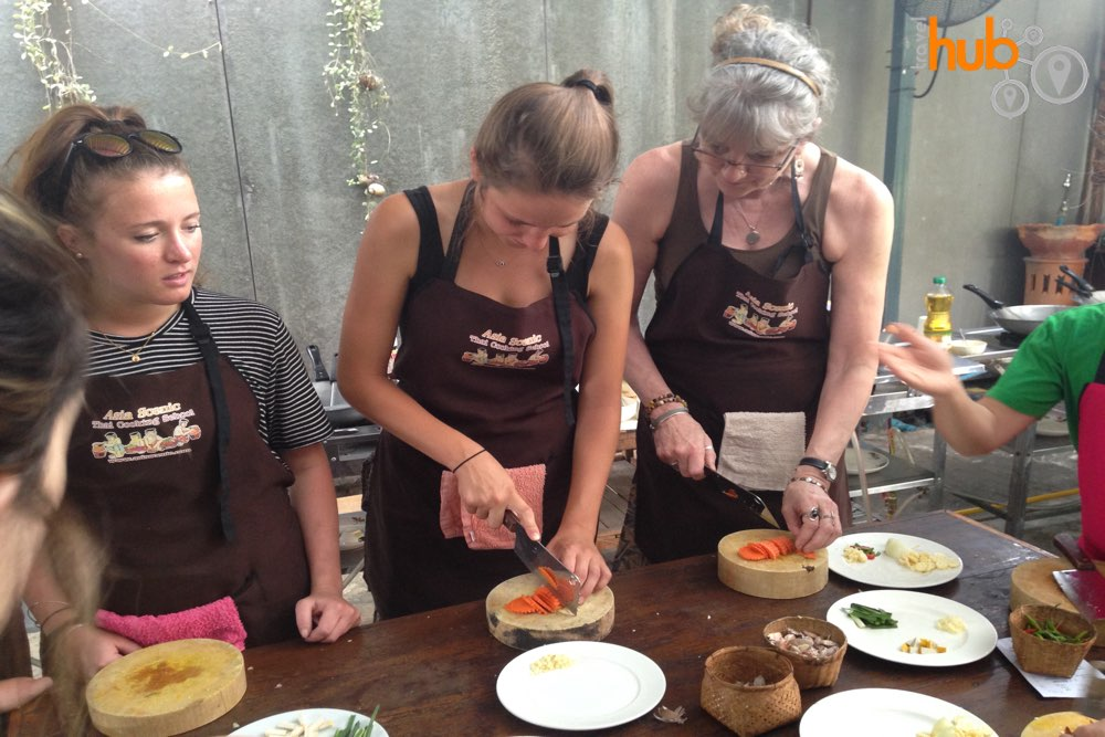Try your hand at preparing Thai food at the Thai cooking school