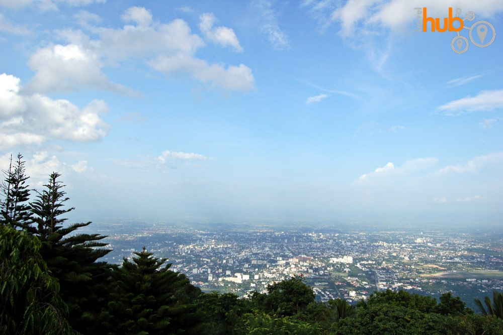 On a clear day you will get this view from Doi Suthep Temple