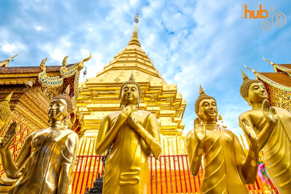 You will visit Doi Suthep temple. Chiang Mai's most prominent and important temples