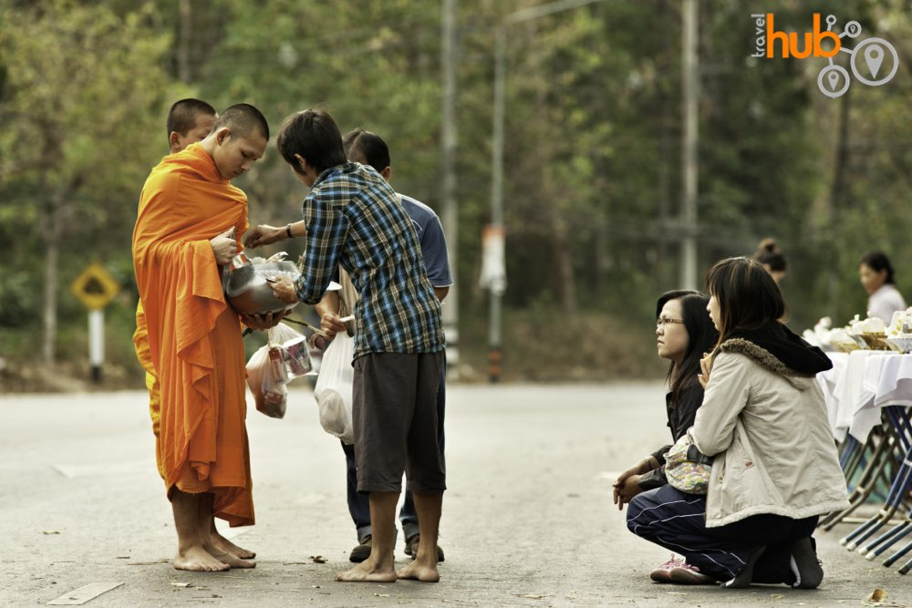 You will need to be awake early as we will need to catch the monks on their early morning alms rounds
