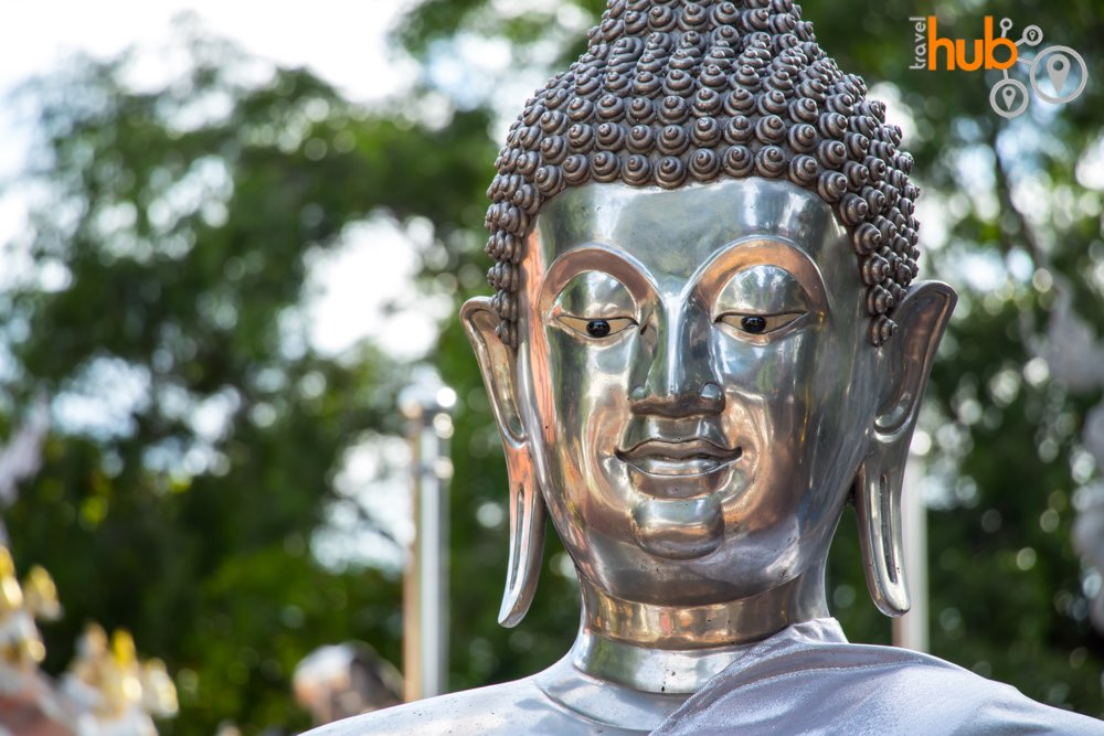 Even the Buddha statues are silver!
