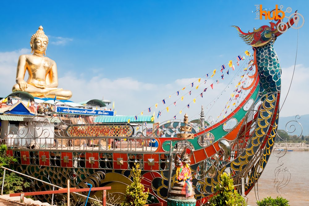 You can get a close up view of the iconic sitting Buddha at The Golden Triangle