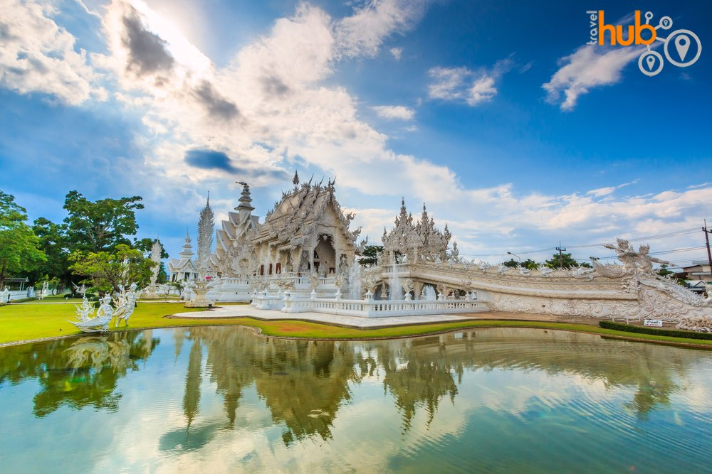 Wat Rong Khun will be one of our first stops on the Chiang Rai day