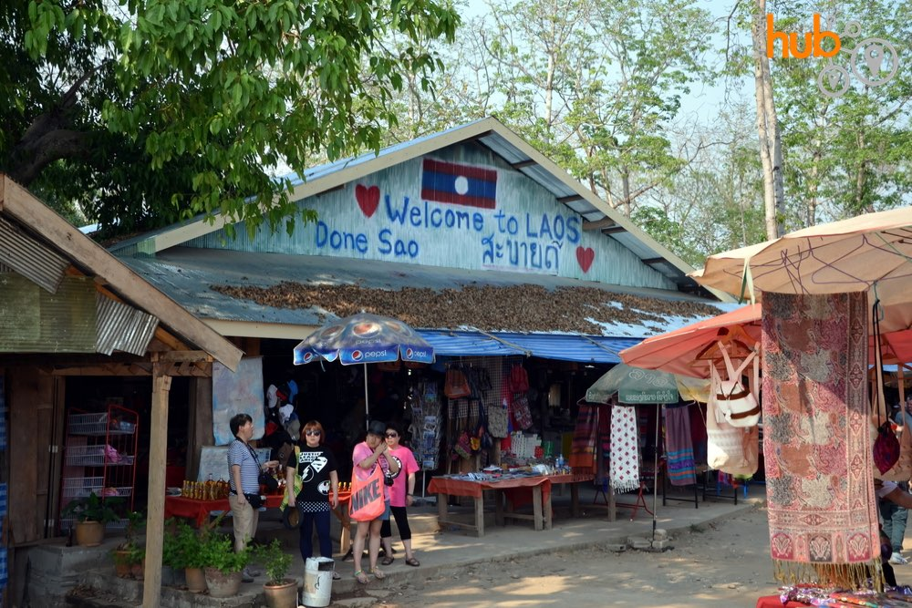 This small market will be visited in Laos