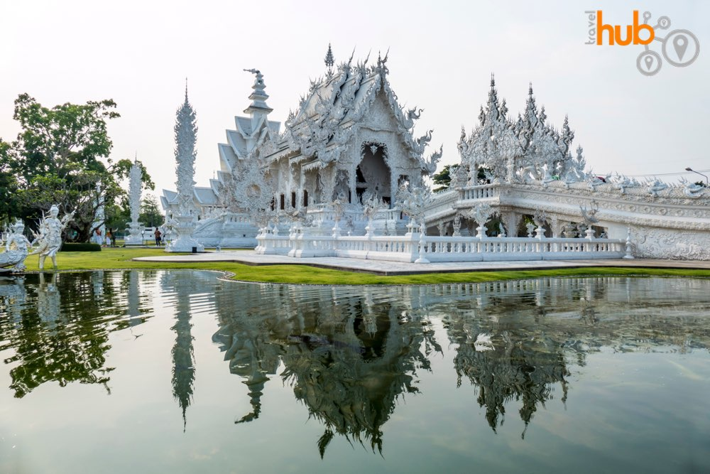 The stunning Wat Rong Khun sparkles whatever the weather
