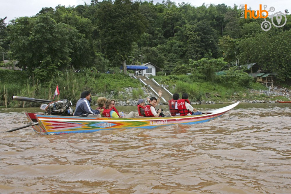 Enjoy a boat ride on the Mekong