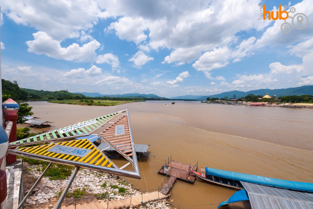 This part of the Mekong River is known as The Golden Triangle