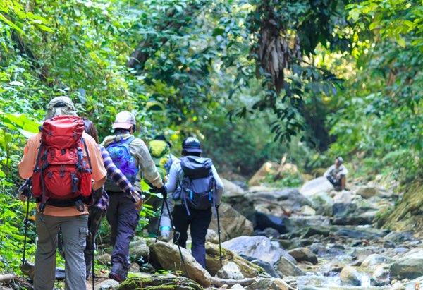 Whitewater rafting on Jungle trek