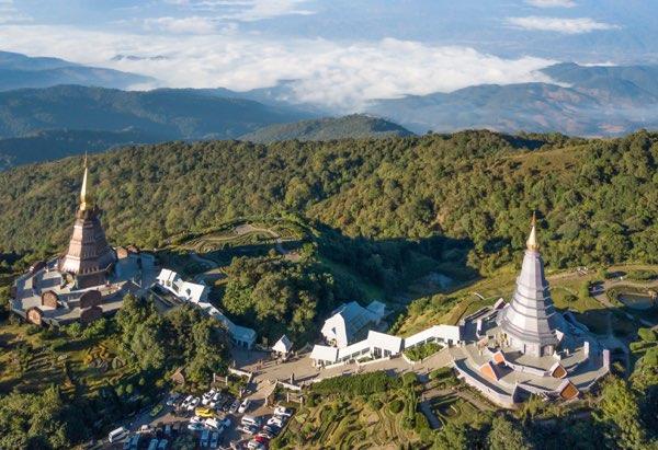 Twin pagodas at Doi Inthanon Natioanl Park